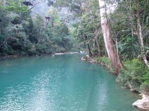 Blue Creek during the dry season.