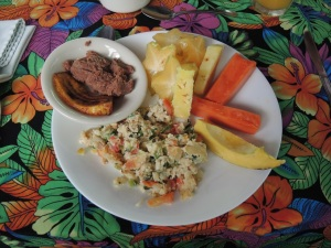 A wonderful breakfast - fresh papaya too!