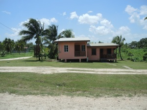 One of the brightly painted houses in Belize