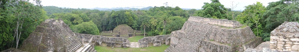 Panorama of Complex A at Caracol.