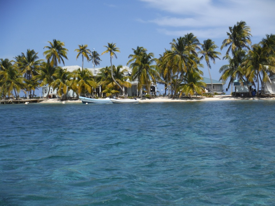 Approaching Carrie Bow Caye.