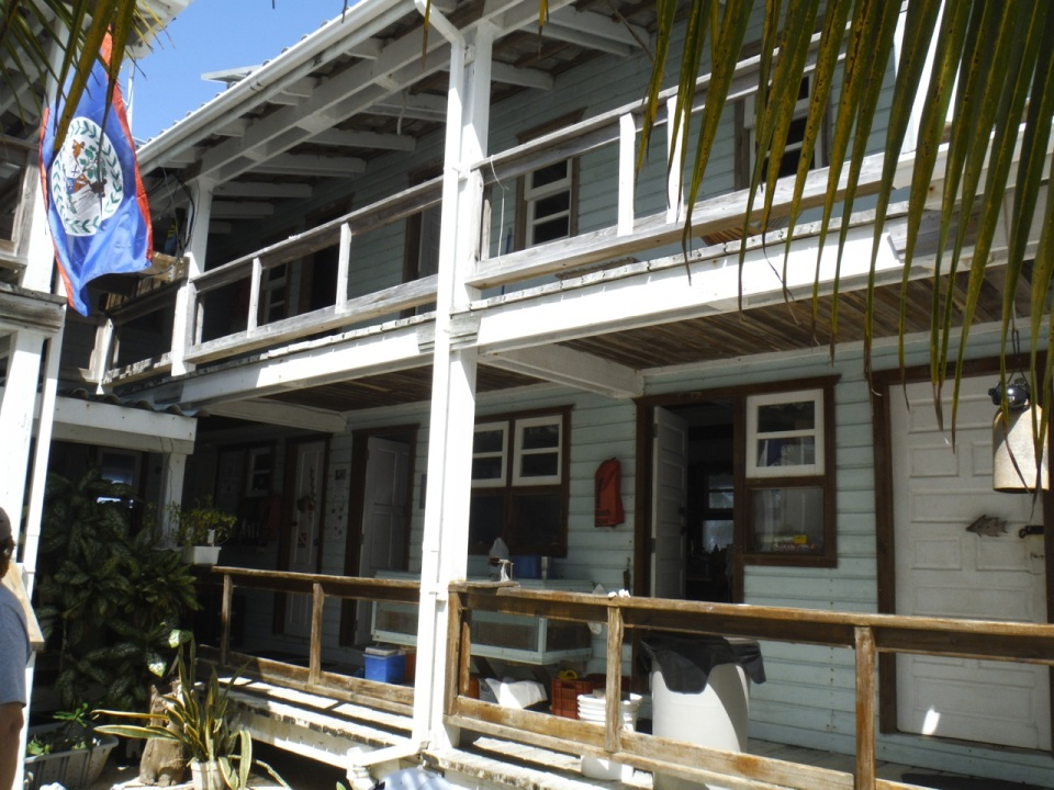 Part of the Field Station on Carrie Bow Caye.