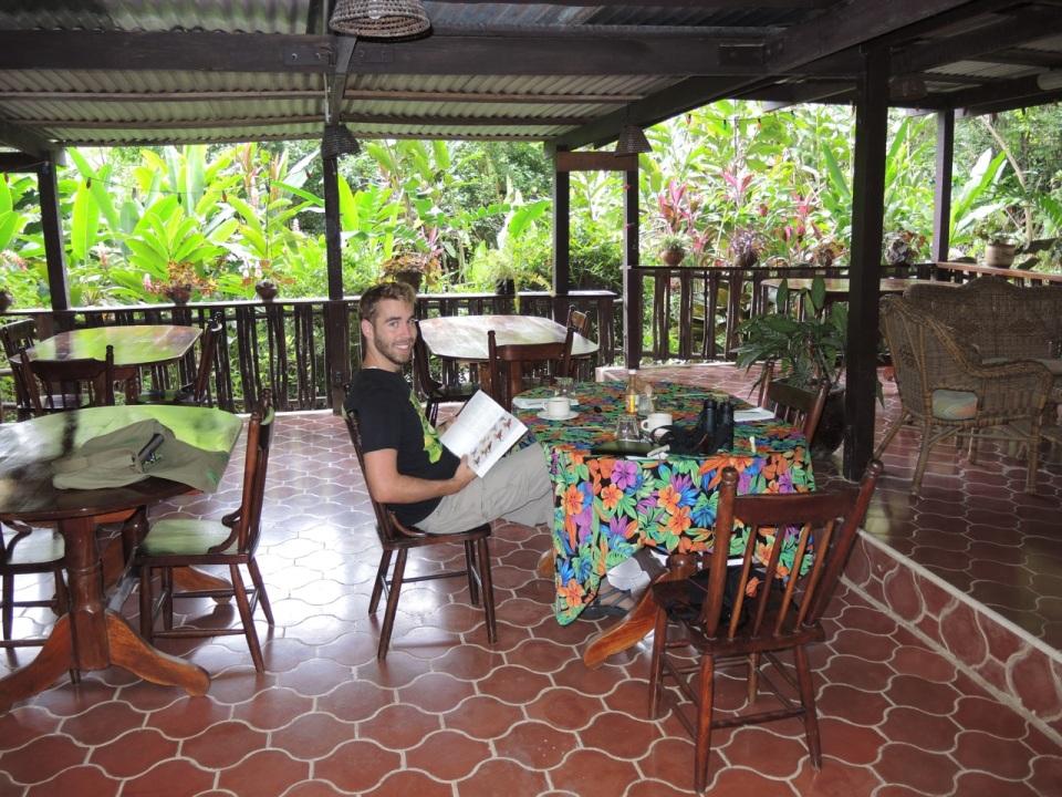 Maya Mountain Lodge Dining Area.