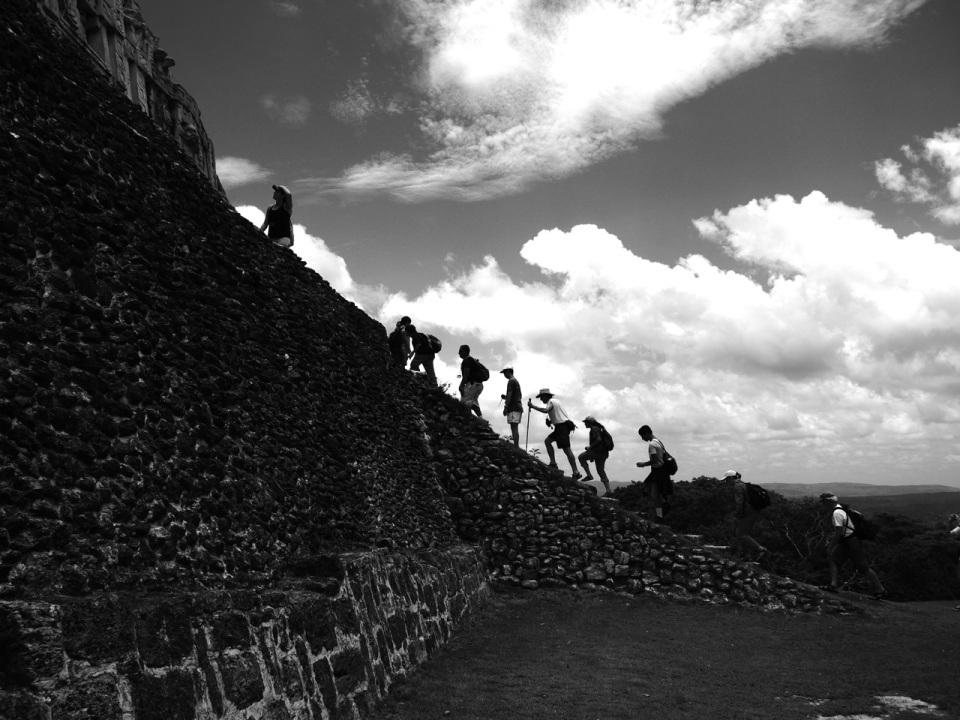 El Castillo Hiking Up