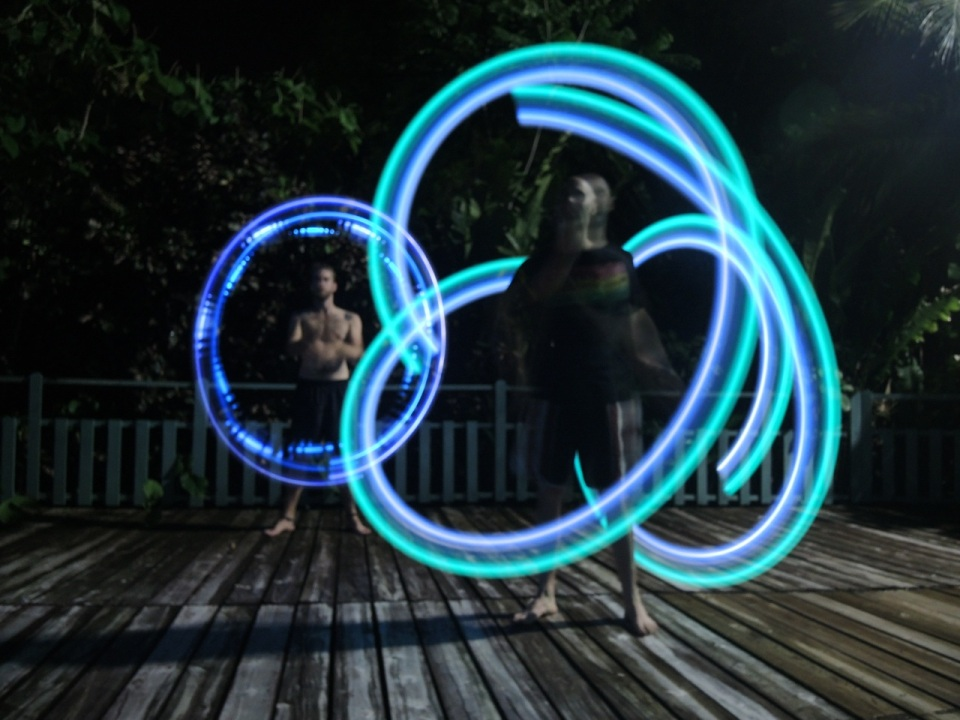 Michael and Kerry Light Poi-ing.