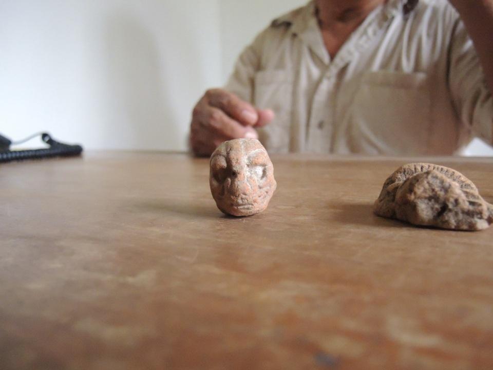 Jaguar Head Figurine.