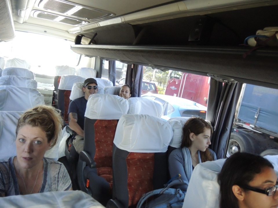 We were the first pick up so the bus looks empty. We filled every seat for the trip to Monteverde.