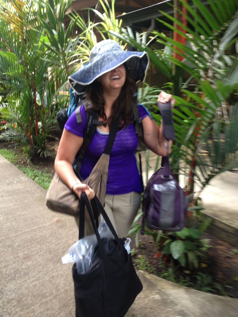 "And...our hostess for the shopping trips in Tortuguera will be ""ChaCha"" Bell...nope, no malls in Tortuguera."