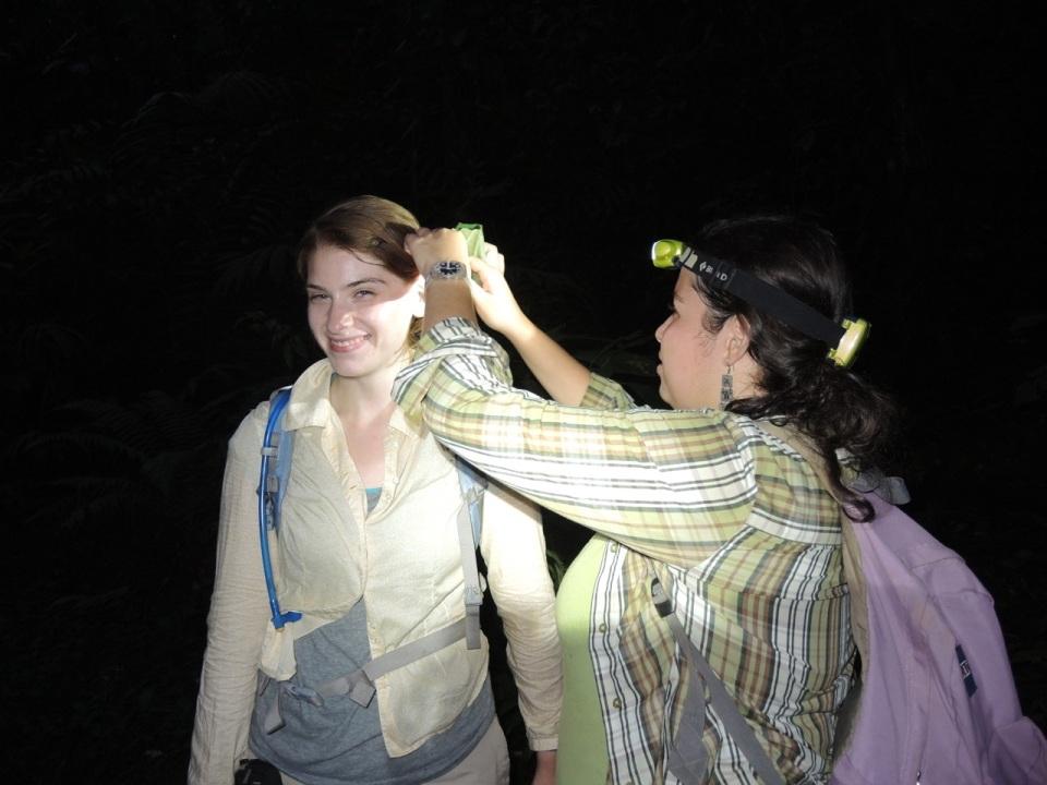 Priscilla assisting Raquel...