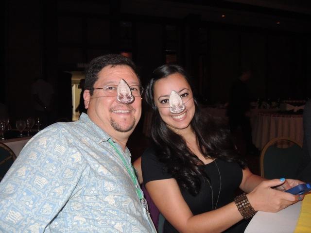 Rosie & Dave at dinner