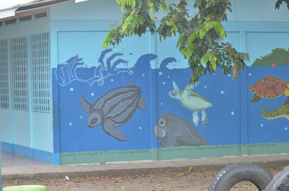 Mural at the town school.
