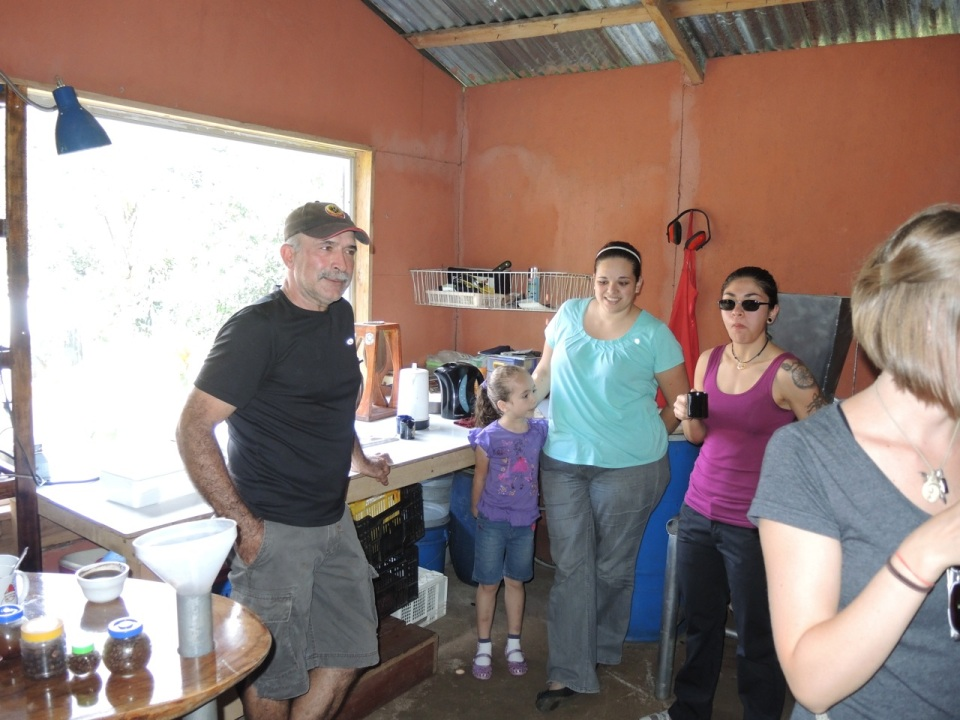 Senor Badilla and daughter (in light blue).