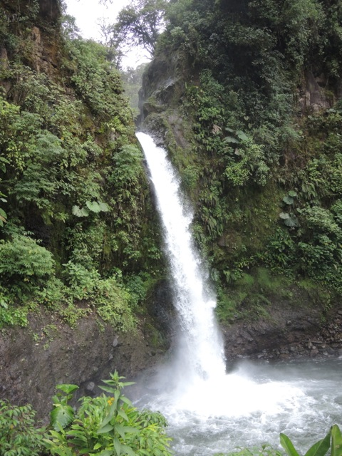 The waterfall was about 75-feet tall.