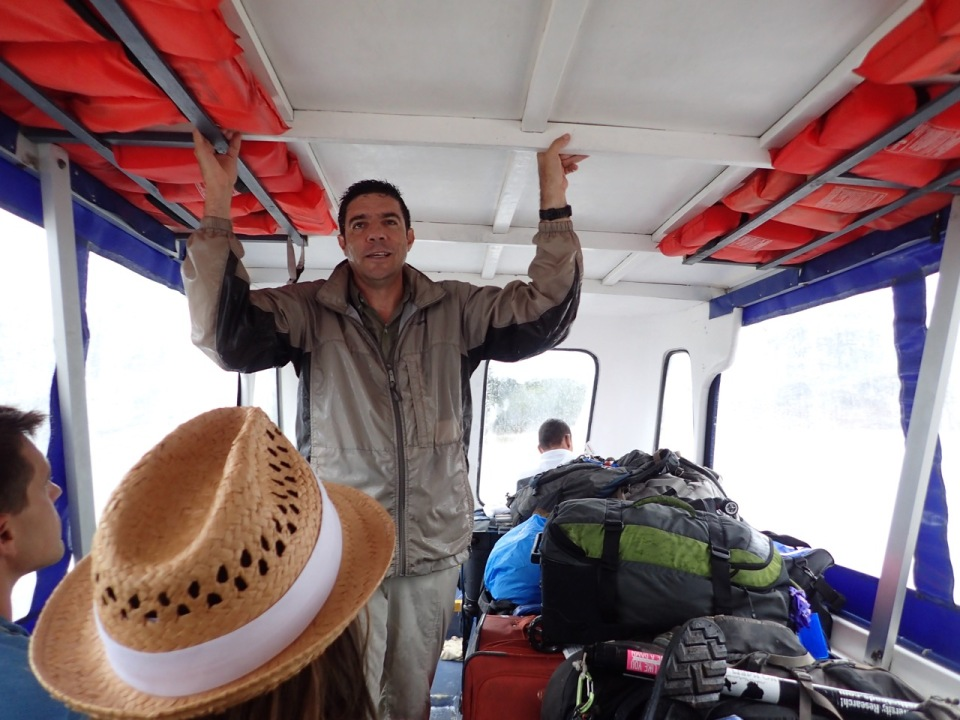 Carlos talks to us about Tortuguero during our boat ride to the area.
